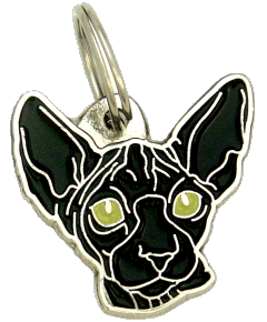 SPHYNX CAT BLACK - pet ID tag, dog ID tags, pet tags, personalized pet tags MjavHov - engraved pet tags online